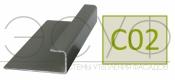 Соединительный профиль алюминиевый 3 м 45/15/8 C01 Cedral C02 Солнечный лес