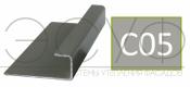 Соединительный профиль алюминиевый 3 м 45/15/8 C01 Cedral C05 Серый минерал