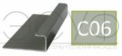 Соединительный профиль алюминиевый 3 м 45/15/8 C01 Cedral C06 Дождливый океан