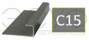 Соединительный профиль алюминиевый 3 м 45/15/8 C01 Cedral C15 Северный океан