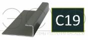 Соединительный профиль алюминиевый 3 м 45/15/8 C01 Cedral C19 Ночной океан