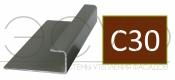 Соединительный профиль алюминиевый 3 м 45/15/8 C01 Cedral C30 Теплая земля