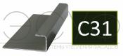 Соединительный профиль алюминиевый 3 м 45/15/8 C01 Cedral C31 Зеленый океан