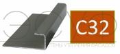 Соединительный профиль алюминиевый 3 м 45/15/8 C01 Cedral C50 Темный минерал